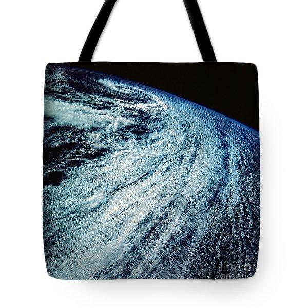 Satellite Images Of Storm Patterns Tote Bag by Stocktrek Images