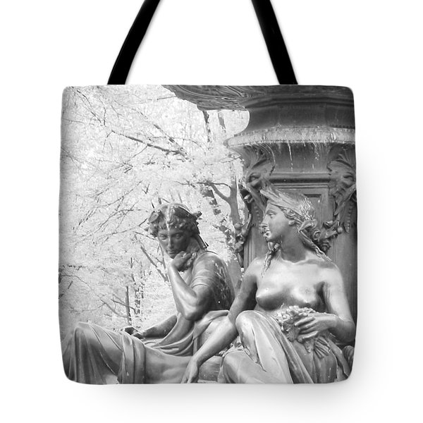 Tote Bag featuring the photograph Saturday Afternoon In The Park I by Ann Johndro-Collins