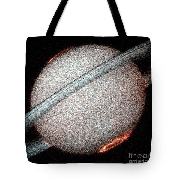 Saturns Auroras Tote Bag by Nasa