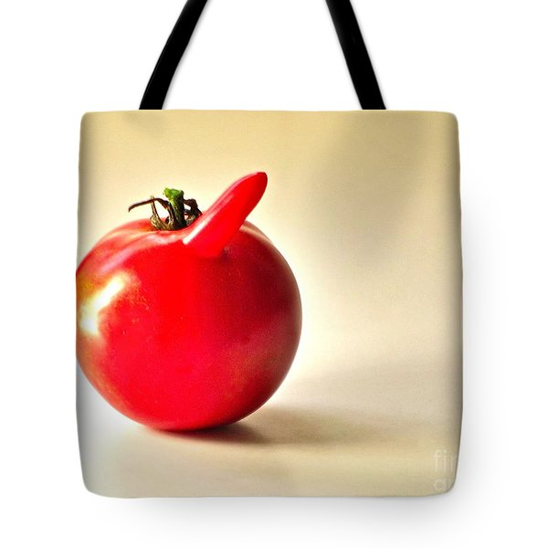 Saucy Tomato Tote Bag by Sean Griffin