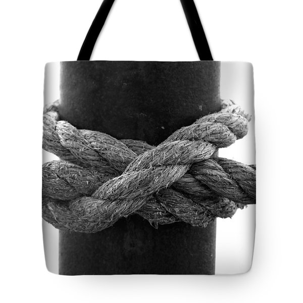 Saugerties Lighthouse Rope Knot Photograph Tote Bag