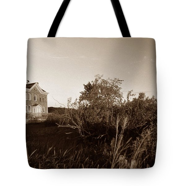 Saugerties Lighthouse Tote Bag by Skip Willits