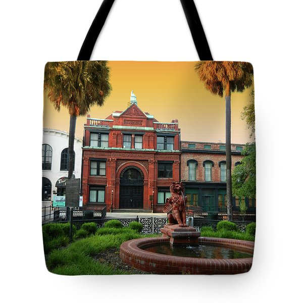Tote Bag featuring the photograph Savannah Cotton Exchange by Paul Mashburn