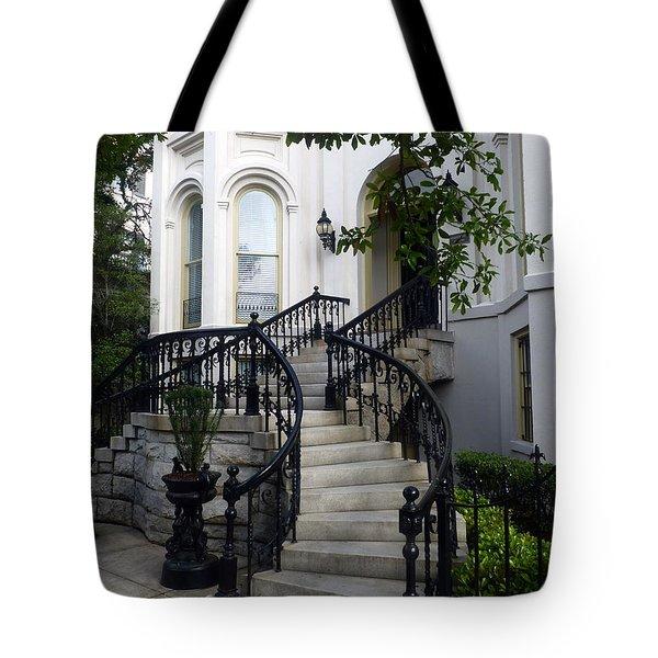 Savannah Stairway Tote Bag