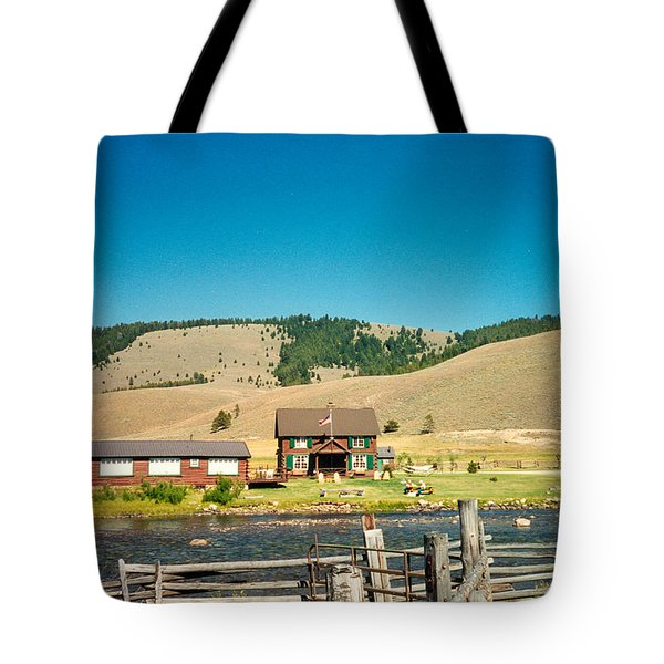Sawtooth Mountains Campsite Tote Bag by Douglas Barnett