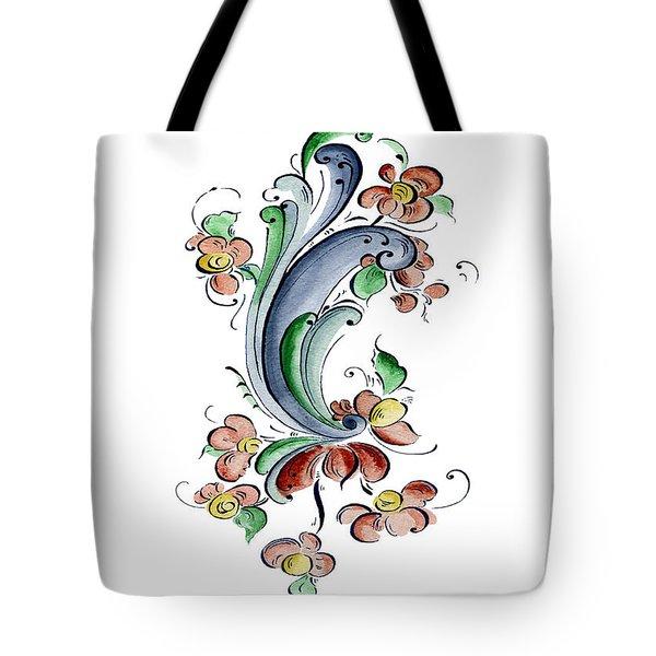 Scandinavian Flower I Tote Bag by Judy Dodds
