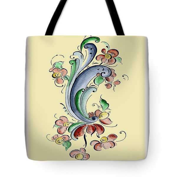 Scandinavian Flower II Tote Bag by Judy Dodds
