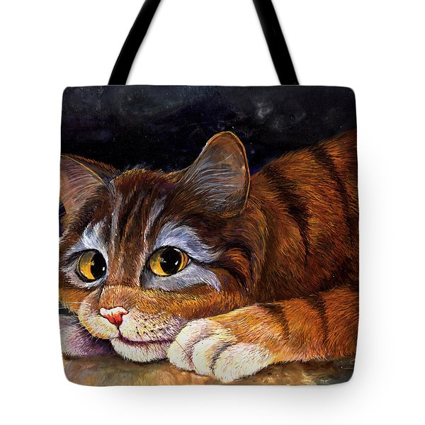 Scaredy Cat Tote Bag by Sherry Shipley