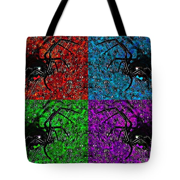 Scary Spider Serigraph Tote Bag by Al Powell Photography USA