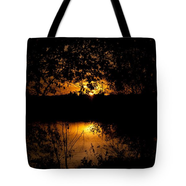 Scary Sunset Tote Bag