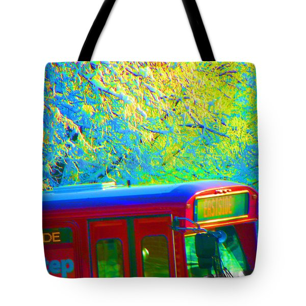 Scene From The Bus Station Tote Bag by Lenore Senior