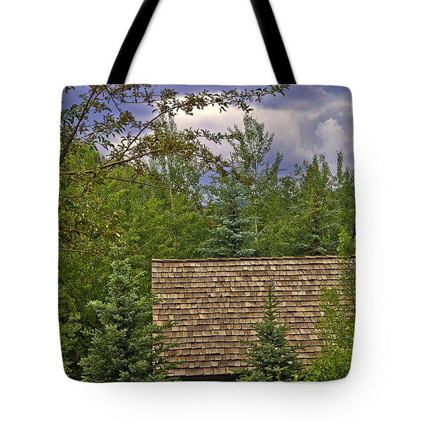 Scene Through The Trees - Vail Tote Bag by Madeline Ellis