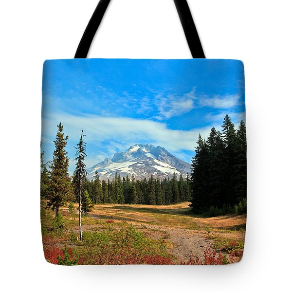 Scenic Mt. Hood In Oregon Tote Bag by Athena Mckinzie
