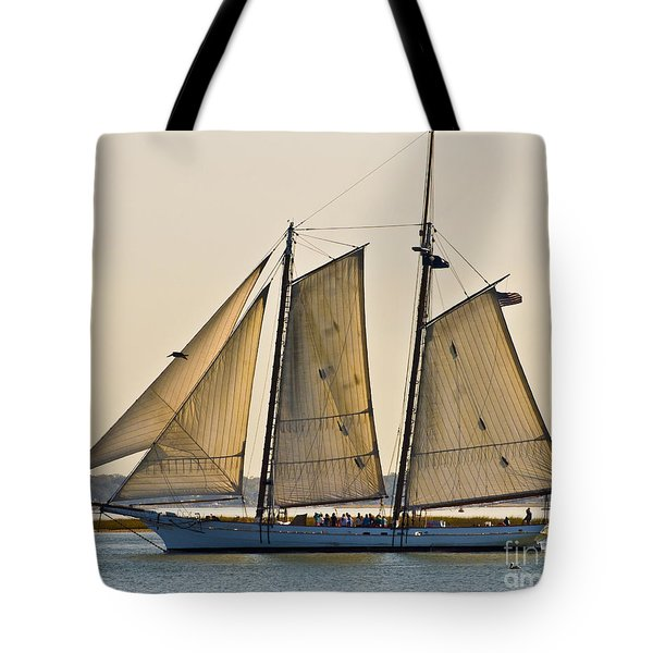 Scenic Schooner Tote Bag by Al Powell Photography USA
