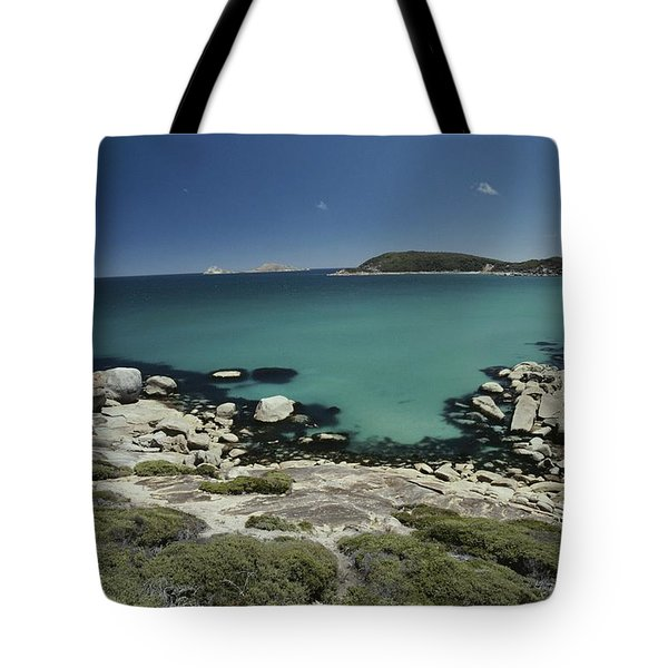 Scenic View Of A Bay At Wilsons Tote Bag