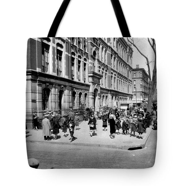 School's Out In Harlem Tote Bag by Underwood Archives