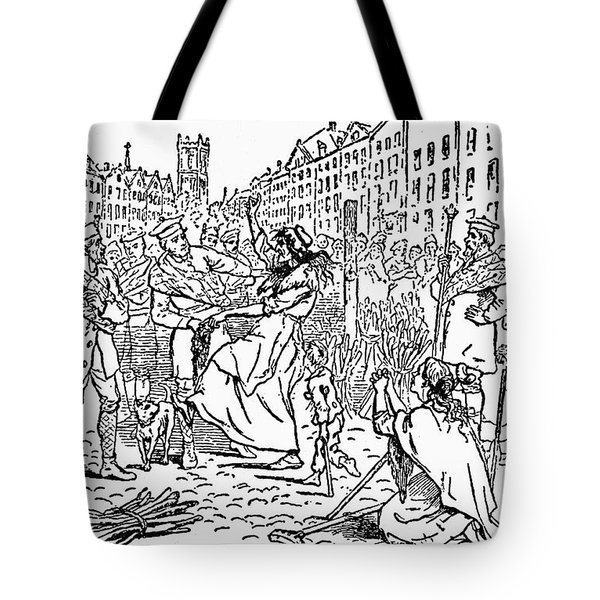Scotland: Witch Burning Tote Bag by Granger