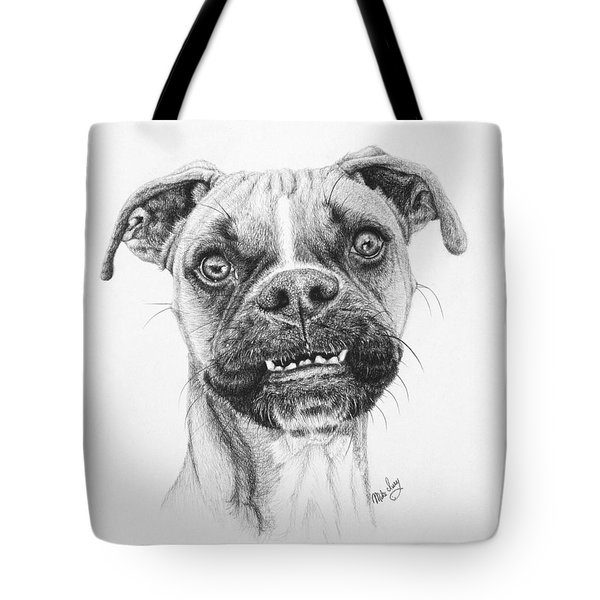 Tote Bag featuring the drawing Scout by Mike Ivey