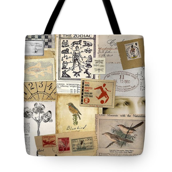 Scrapbook Page Number 1 Tote Bag by Carol Leigh