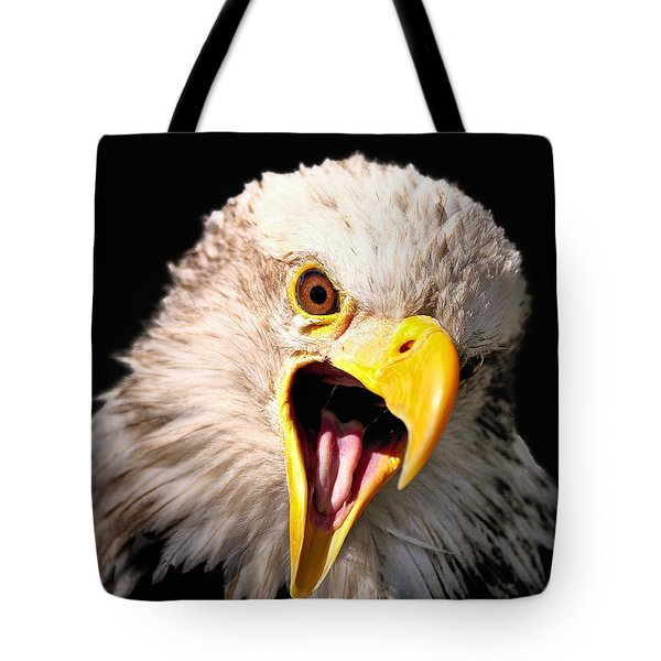 Screaming Eagle II Black Tote Bag