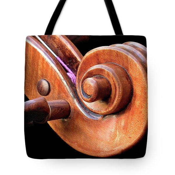 Tote Bag featuring the photograph Scroll Detail by Endre Balogh