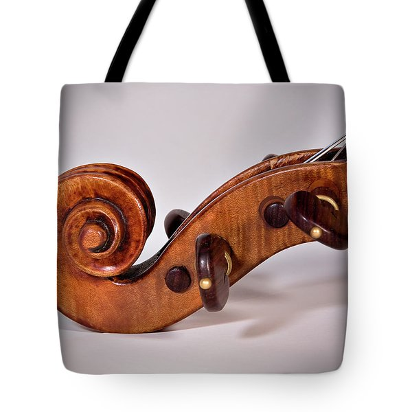 Tote Bag featuring the photograph Scroll Side View by Endre Balogh
