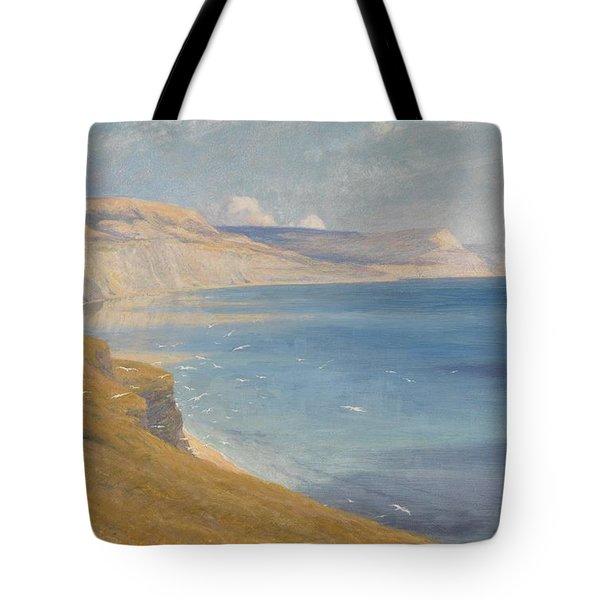 Sea And Sunshine   Lyme Regis Tote Bag by Sir Frank Dicksee