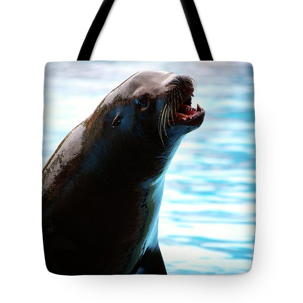 Sea-lion Tote Bag by Carlos Caetano