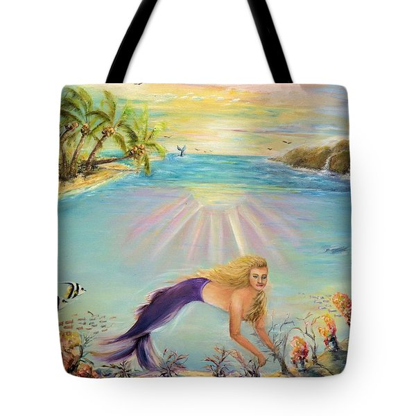 Sea Mermaid Goddess Tote Bag