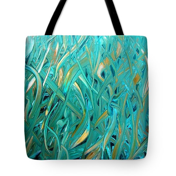 Tote Bag featuring the painting Sea Of Grass by Mary Kay Holladay