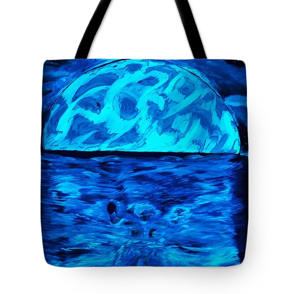 Sea Of Troubles Black Light Tote Bag