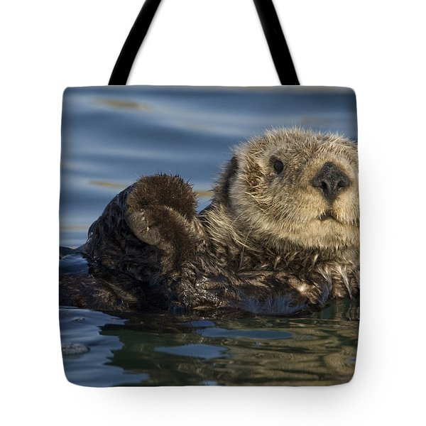 Sea Otter Monterey Bay California Tote Bag