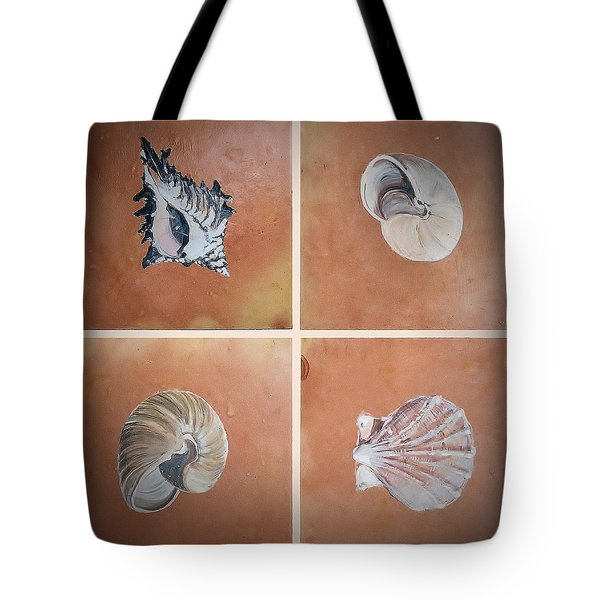 Sea Shells Tote Bag by Andrew Drozdowicz