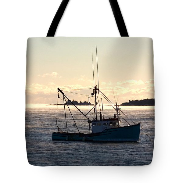 Tote Bag featuring the photograph Sea-smoke On The Harbor by Brent L Ander