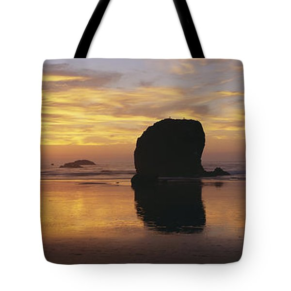 Sea Stacks Tote Bag by Chromosohm Media Inc and Photo Researchers