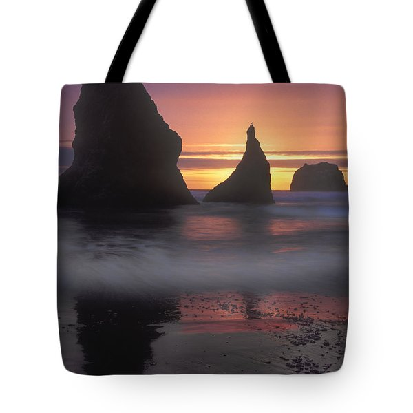 Sea Stacks Off The Oregon Coast Tote Bag by Dave Mills