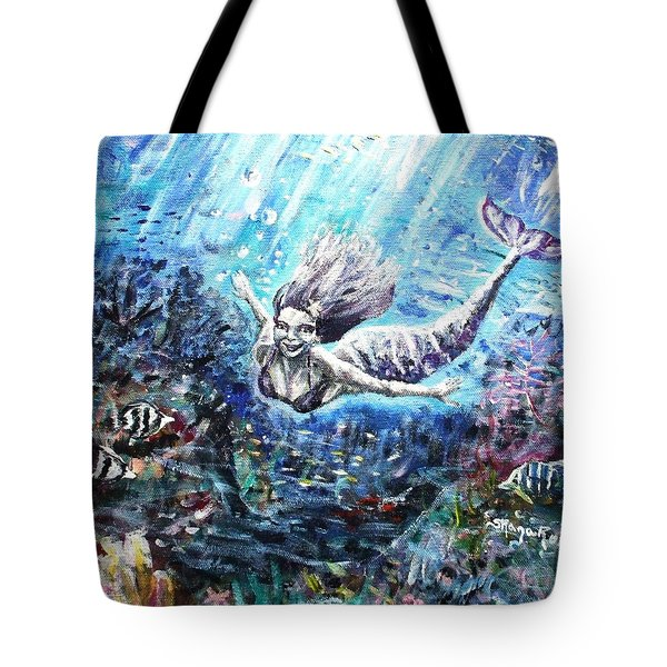 Tote Bag featuring the painting Sea Surrender by Shana Rowe Jackson