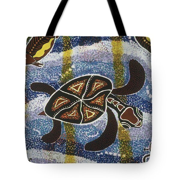 Sea Turtle Tote Bag by Pat Saunders-White
