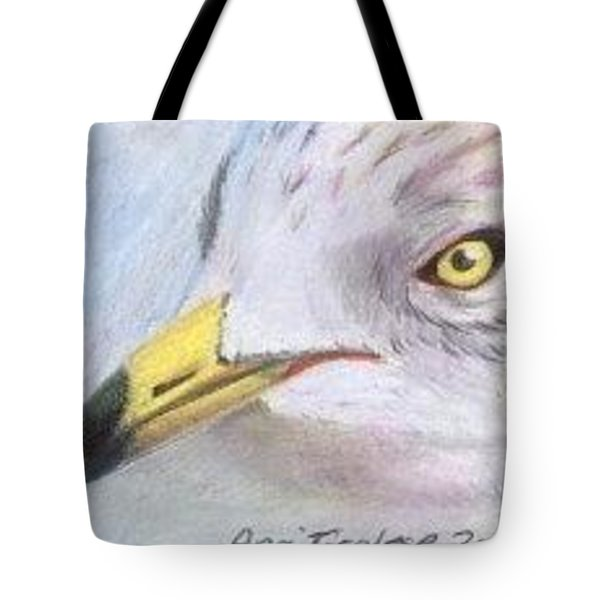 Tote Bag featuring the drawing Seagull 2 - Aceo by Ana Tirolese