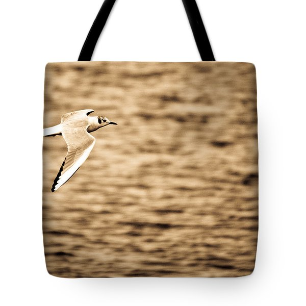 Seagull Antiqued Tote Bag