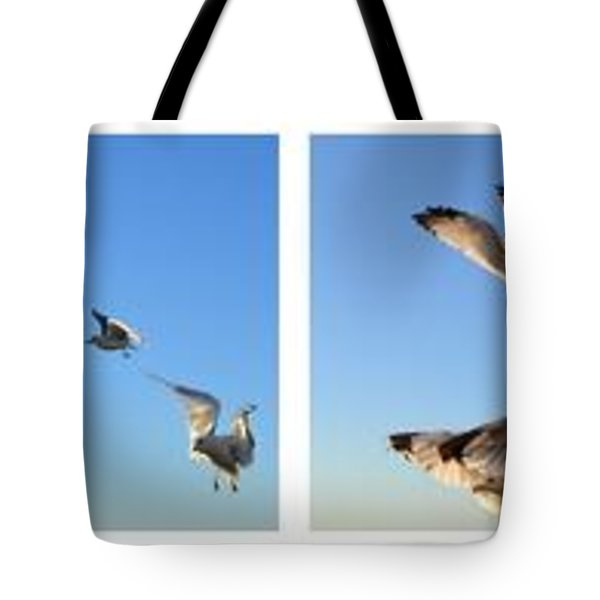 Seagull Collage Tote Bag by Michelle Calkins