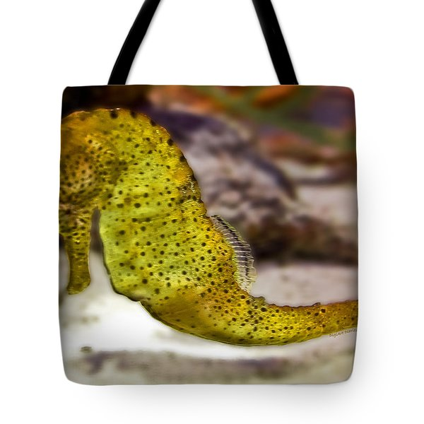 Seahorse Of Course Tote Bag by DigiArt Diaries by Vicky B Fuller
