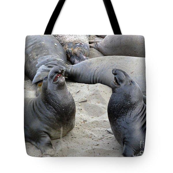 Seal Spa. Men's Talk2 Tote Bag by Ausra Huntington nee Paulauskaite