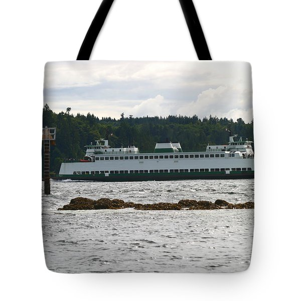 Sealth Ferryboat Rich Passage Tote Bag by Kym Backland