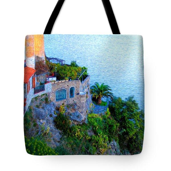 Seaside Villa Amalfi Tote Bag by Bill Cannon