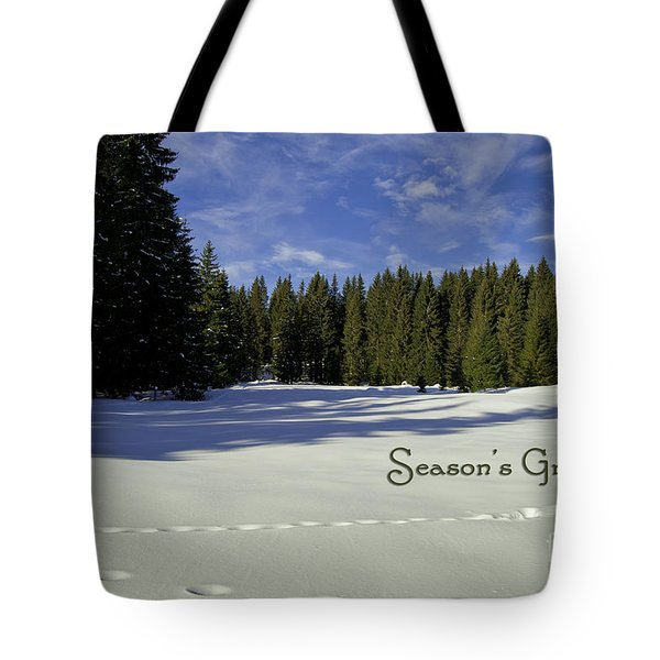 Season's Greetings Austria Europe Tote Bag by Sabine Jacobs