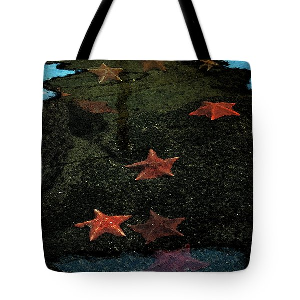 Seastars Tote Bag by Karen Harrison