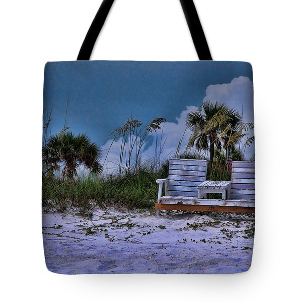 Seat On The Dunes Tote Bag