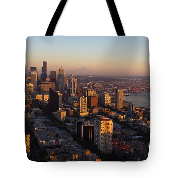 Seattle Blue Hour Tote Bag by Heidi Smith