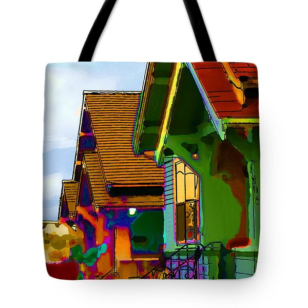 Seattle Hill Houses Tote Bag